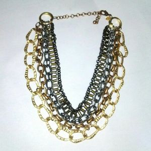 CHICO'S Chunky Multi-tone Layered Necklace